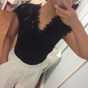 H&M Tops - 2/$30 H&M Black Lace Top